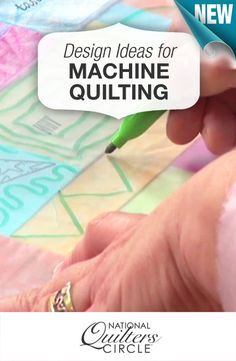 Designs and ideas for machine quilting >> www.nationalquilterscircle.com/video/machine-quilting-designs-ideas