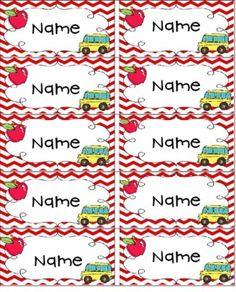 Editable First Day Name Tags It occurs to me that if you typed up your class' names ONE TIME, you would then have labels for lots of things: agendas, writing folders, crayon boxes. Name Tag For School, 1st Day Of School, Beginning Of The School Year, School Fun, School Ideas, Daycare Ideas, School Stuff, Teaching Tools, Student Learning