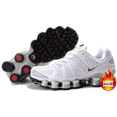 purchase cheap 6635e 19ee1 Mens Nike Shox TL3 White Silver Red Mens Nike Shox, Nike Shox Shoes, New