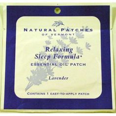 Natural Patches of Vermont Aromatherapy Body Patch - Relaxing Sleep Formula Essential Oil Patch - for all your travel size needs