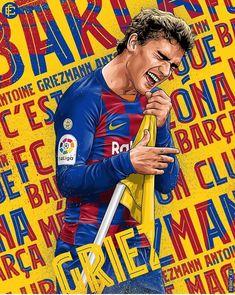 Barcelona Players, Lionel Messi Barcelona, Barcelona Soccer, Fifa Football, Football Art, Sport Football, Cr7 Messi, Messi Soccer, Antoine Griezmann