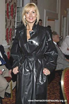 1f165aa4d43 Happy lady in her rubber mackintosh Pvc Raincoat