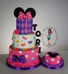 Peaceofcake Sweet Design Minnie Cake Bolo Minnie Infantil