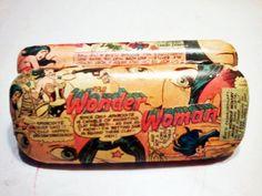 Wonder Woman Eyeglasses Glasses Hard Case  DC by MacklinsMurals, $30.00