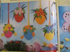kreatív ötletek gyerekeknek tavaszra - Google keresés Planter Pots, Easter, Crafts, Decor, School, Google, Manualidades, Decoration, Easter Activities