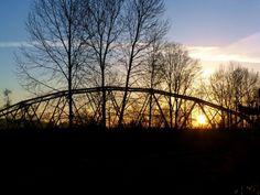 Sunrise and the Puyallup River bridge