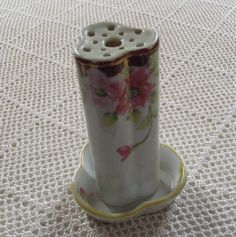 Vintage Hat Pin Holder Hand Painted Nippon by MariaMarrese on Etsy