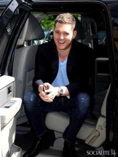 September 9, 2013: Michael Buble arrives at a midtown hotel today his birthday in New York City.