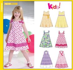 """I have made 4 dresses from this pattern, super simple, no zipper, 3 rows of 1/4"""" elastic, dress it up or down."""