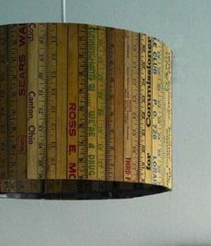DIY Ruler Lampshade Tutorial