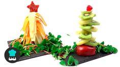 Árboles comestibles para Navidad - Fruta y queso #RecetasGratis #Navidad #RecetasparaNavidad #RecetasNavideñas #CenadeNavidad #CenadeNocheVieja #CenadeNocheBuena #AperitivosNavidad #ÁrbolNavidad