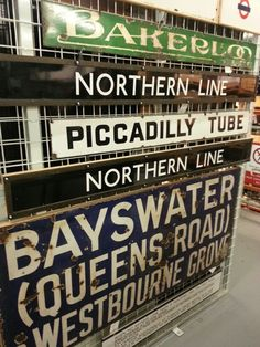 Tube signs