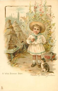A WEE BONNY BOY-painted by Helen Jackson...ART, CHROMOGRAPHED IN GERMANY, same images, French backs SERIE 626, some images occur in Jack & Jill book First Use:21/12/1905