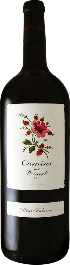 beautiful embroidered wine label PD