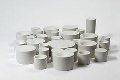 Design: Lust for Light van Simone van Brakel. Een zwaar servies, waar maar kleine hapjes in passen. Handig voor een dieet.