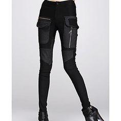 Jansa ™ Damemode splejsning slank bukser – DKK kr. 249
