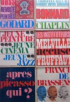 Vintage 1960s French Front Cover Typography