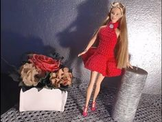 YouTube Barbie Clothes Patterns, Clothing Patterns, Crochet Clothes, Diy Clothes, Doll Videos, Dou Dou, Crochet Videos, Barbie Dress, Barbie And Ken