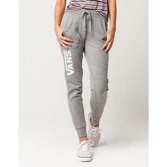 Vans Drop V Jogger Pants ($44) ❤ liked on Polyvore featuring activewear, activewear pants, jogger sweat pants, fleece lined sweat pants, cotton sweatpants, cotton sweat pants and jogger sweatpants