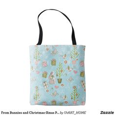 From Bunnies And Christmas Xmas Pattern For Kids Tote Bag This Beautiful Vibrant Collection Of
