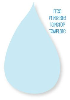 Template for hanging raindrops - and some baby shower ideas that may help us