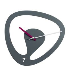 Seven byProgetti is aclock. Wall clock in painted steel. Battery quartz movement.