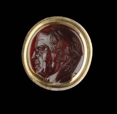Oval gem with bust of Cicero(?) | Museum of Fine Arts, Boston