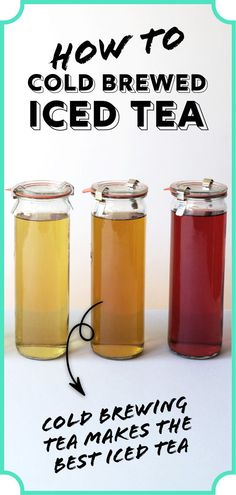 The secret to the perfect iced tea is to cold brew it. Step-by-step directions on how to cold brew tea at home. PLUS, how to make fresh fruit iced tea! Iced Tea Recipes, Coffee Recipes, Fruit Tea Recipes, Drink Recipes, Watermelon Ice Tea Recipe, Tea For Colds, Cold Brew Coffee Recipe, Making Iced Tea, Brew Tea