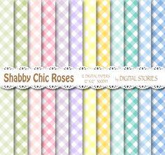 Shabby Chic Digital Paper SHABBY CHIC PLAID by DigitalStories, €2.80