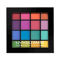 Nyx Ultimate Shadow Palette Brights . oz (239.340 IDR) ❤ liked on Polyvore featuring beauty products, makeup, eye makeup, eyeshadow, beauty, eyes, cosmetics, brights, palette eyeshadow and nyx eye shadow