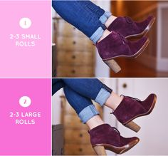 how-to-roll-skinny-jeans-booties/ with short ankle boots Fall Outfits, Casual Outfits, Girly Outfits, Work Outfits, Rolled Jeans, Cuffed Jeans, Cool Style, My Style, Fashion Advice