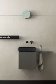 Buy online By wall-mounted vanity unit with door design Fabrizio Milesi The post appeared first on Best Pins for Yours - Bathroom Decoration Tiny Bathrooms, Steam Showers Bathroom, Bathroom Doors, Bathroom Toilets, Bathroom Furniture, Minimalist Bathroom, Modern Bathroom, Small Bathroom, Küchen Design