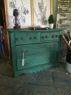 Ogee Dresser in Amsterdam Green by StylishPatina on Etsy