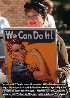 The woman who posed for the famous poster! ~~~~March is Women's History Month