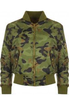 Dara Camo Bomber Jacket for just £23.00