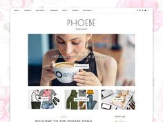 WordPress Theme Responsive - Phoebe by Georgia Lou Studios on @creativemarket