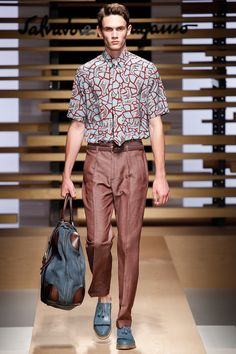 #Mfw #Menswear Salvatore Ferragamo | Spring 2015 Menswear Collection | Style.com