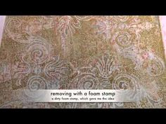 Using distress ink on gelli plate--lots of new ideas in this video