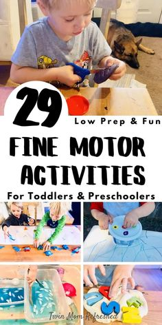 Toddler Fine Motor Activities, Activities For 5 Year Olds, Nanny Activities, Crafts For 2 Year Olds, Motor Skills Activities, Preschool Learning Activities, Infant Activities, Toddler Preschool, Activities To Do With Toddlers