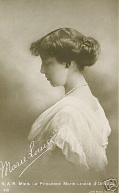 Princesse Marie-Louise d`Orleans (1896-1973)  fille de la princesse Henriette de Belgique et du prince Emmanuel d'Orléans, duc de Vendôme