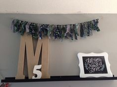 Seahawks ripped fabric banner by JadoreCraftsBoutique on Etsy