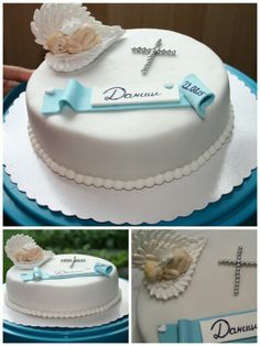 Torten Zur Taufe Cakes Pinterest Christening Fondant And Cake