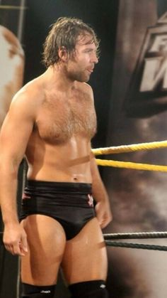 Dean Ambrose, alias, hot wrestlers, sweaty, male bulge, tights, ready for action, hairy chest, sexy
