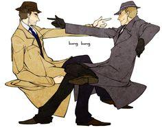 """potężniejszy: """"bang bang Nie kłam.  Chciałbym Dean powiedzieć w latach czterdziestych XX wieku i po prostu rozwiązać starą polowania na sprawy z sassy detektywem Elliotem, robiąc wszystko z niewłaściwą epoką współczesną Sean Connery jeden wkład.  I WIESZ?  W 1940 roku ... CAS jest wciąż ..."""