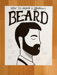 How to Groom a Gentleman's Beard fine art Print by ElloThere