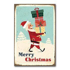 "weihnachtliche Wanddekoration Blechschild ""merry christmas"" / ca. 30x45 cm / Weihnachtsdeko / vintage Cuadros Lifestyle http://www.amazon.de/dp/B00PAI0BQU/ref=cm_sw_r_pi_dp_Y3Yyub19GHB1R"