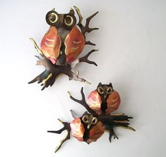 vintage owl metal wall hanging home decor by RecycleBuyVintage, $35.00