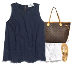 """""""Mani pedi day out"""" by sassy-preppy ❤ liked on Polyvore featuring H&M, Louis Vuitton, Madewell and Jack Rogers"""