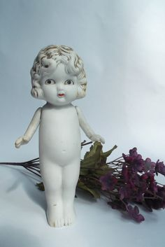 Creepy Cute Old Bisque Porcelain Doll by AppolinesAttick on Etsy, $15.00