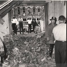 16th Street Baptist Church interior, damage to side entrance. :: Alabama Photographs and Pictures Collection